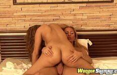 Vídeo de sexo travesti comendo mulher